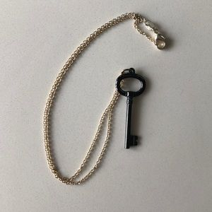 Tiffany's gold and Slate key necklace